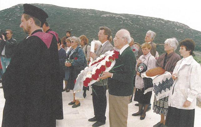 GGE-Vertreter 1995 in Distomo, Griechenland