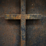 rostiges Metall-Kreuz